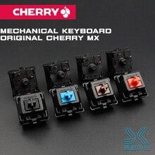 Original Cherry แป้นพิมพ์สีน้ำตาลสีแดงสีแดง Mx สวิทช์ 3 ขา Cherry Mx Clear สวิทช์