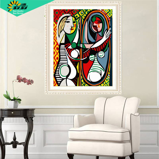 Famous Picasso Van Gogh Picture On Wall Drawing By Numbers Unique Acrylic Coloring Oil Painting Lxz10