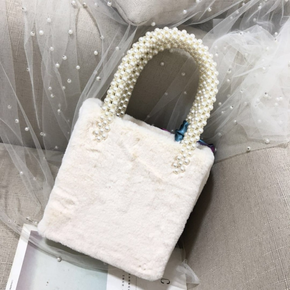 Fashion New Fur Beaded Handbag Luxury Pearl Bag Box beaded Bag Purses and Handbags Chic Brand Evening Party Bag недорго, оригинальная цена