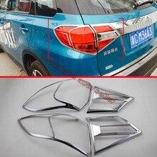 ABS Chrome Tail light Pokrywa Tapicerka Dla Suzuki VITARA 2015 2016