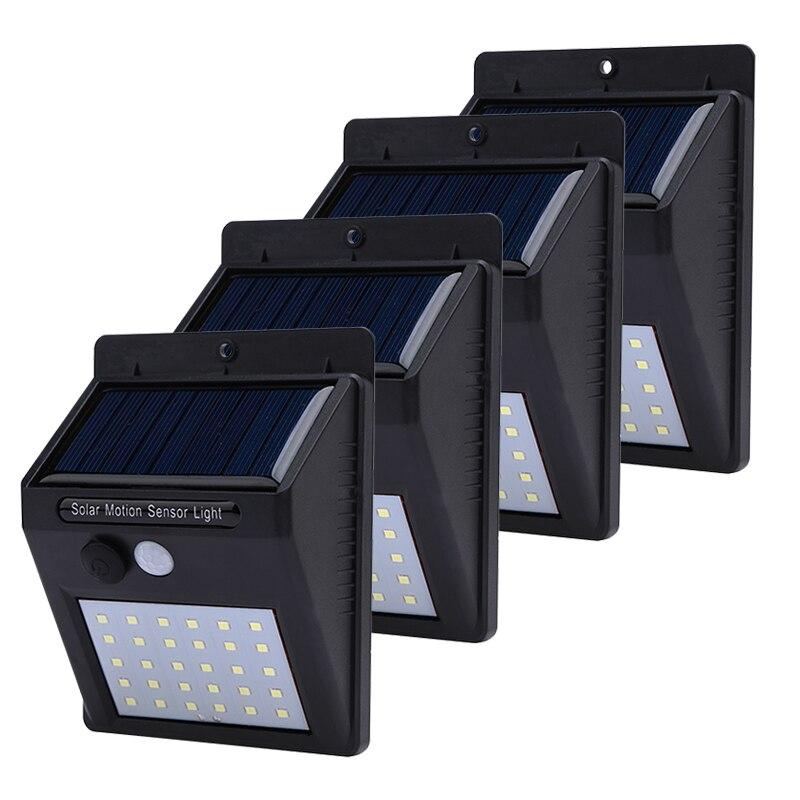 Waterproof 1-4pcs Solar Light 20/30 Leds PIR Motion Sensor Wireless Solar Lamp Outdoor Yard and Garden Solar Lamp Wall Light