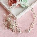 Newest Flower Wedding Hair Tiaras High-end Handmade Beaded Wedding Bridal Headband Hair Accessory