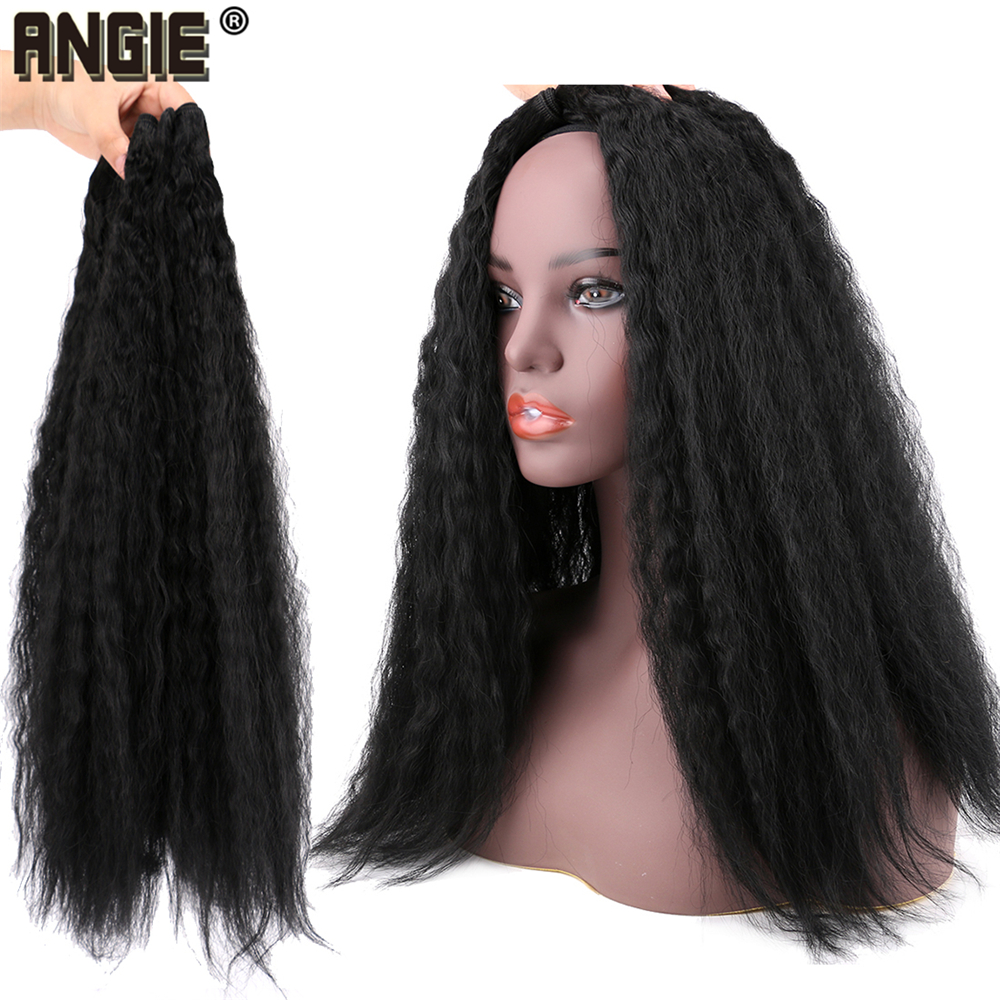 Angie, cabelo sintético liso, tranças sintético preto,