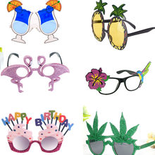 Hawaii Beach Novelty Pineapple beer Sunglasses Goggles Bachelorette Hen Night Party glasses Carnival Beach Party Decoration(China)