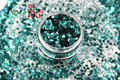 HM2104-234 brillo metálico de Color Verde Oscuro en Forma de Hexágono Glitter Lentejuelas de uñas BRICOLAJE decoración art decoraciones de Halloween