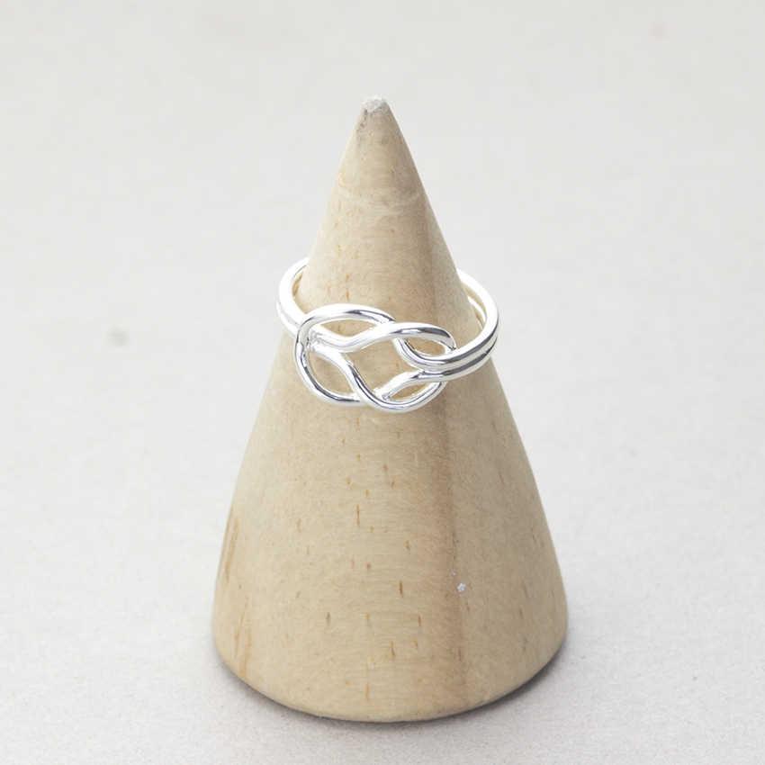 Бесконечность костяшки узел кольцо Forever Love для Для женщин Винтаж Регулируемый открытым Кольца на день рождения повседневной ювелирные изделия Анель masculino