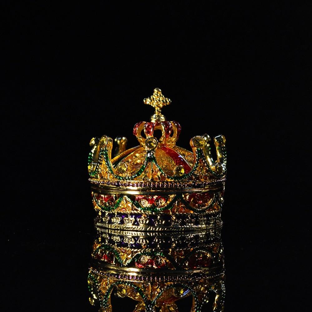 QIFU Metal Craft Crown Shape Home Decor for Jewerly Box