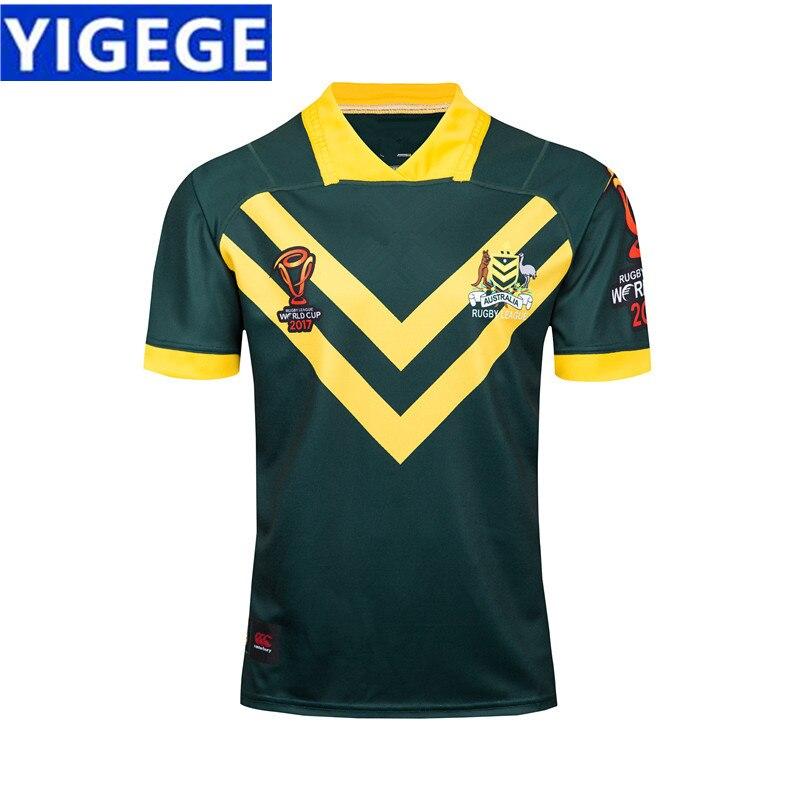 808347c30a5d YIGEGE 2018 Австралия WALLABIES Джерси 18 19 Регби Джерси NRL Национальный регби  Лига рубашка Австралийский кенгуру