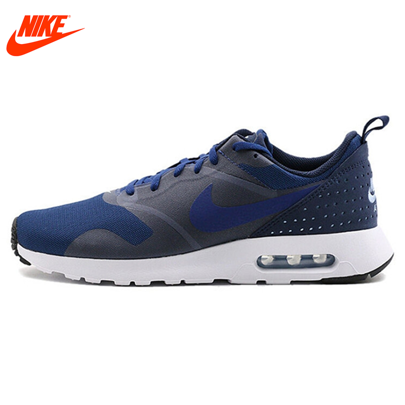 Original NIKE Breathable AIR MAX TAVAS Men's Running Shoes Sneakers Blue Grey and Red Black nike original air max mens sneakers running shoes breathable sneakers shoes outdoor 819300 102