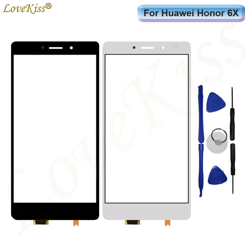 Touchscreen Front Panel Glass For Huawei Honor 6X GR5 2017 Touch Screen Sensor LCD Display Digitizer Honor 6X Repair Replacement