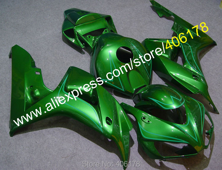Hot Sales,Cheap Motorcycle Fairing For Honda CBR1000RR 2006-2007 CBR1000 RR 06 07 CBR 1000 RR Green Fairings (Injection molding)