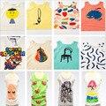 2017 New Bobo Choses Crianças Bebê Colete T-shirt Tops de Tee Meninos Meninas camiseta Crianças camiseta Crianças Primavera Roupas de Verão
