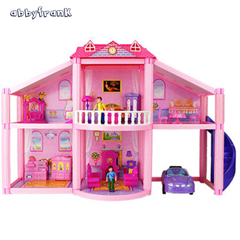 Abbyfrank Fashion Miniature Dolls House DIY Dollhouse Accessories Learning Toys For Children Casinha De Boneca brinquedos