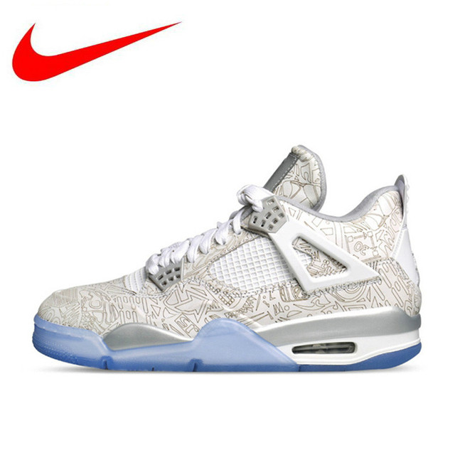51b6e0f78da9 Original Nike Air Jordan 4 Laser AJ4 Women s Breathable New Arrival Official  Basketball Shoes Sports Sneakers 705333-105