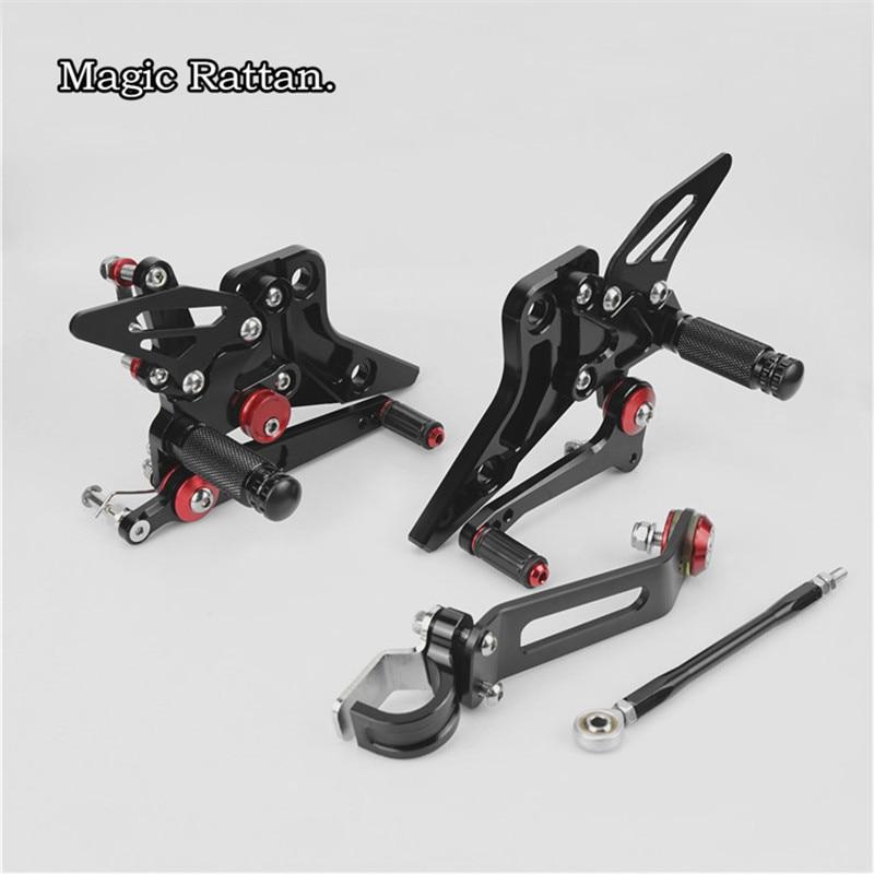 For Kawasaki Z800 Motorcycle CNC Aluminium Adjustable Rider Rear Sets Rearset Footrest Foot Rest Pegs