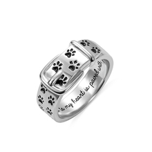AILIN Personalized Engraving Ring Pet Collar With Paws Memorial Jewelry