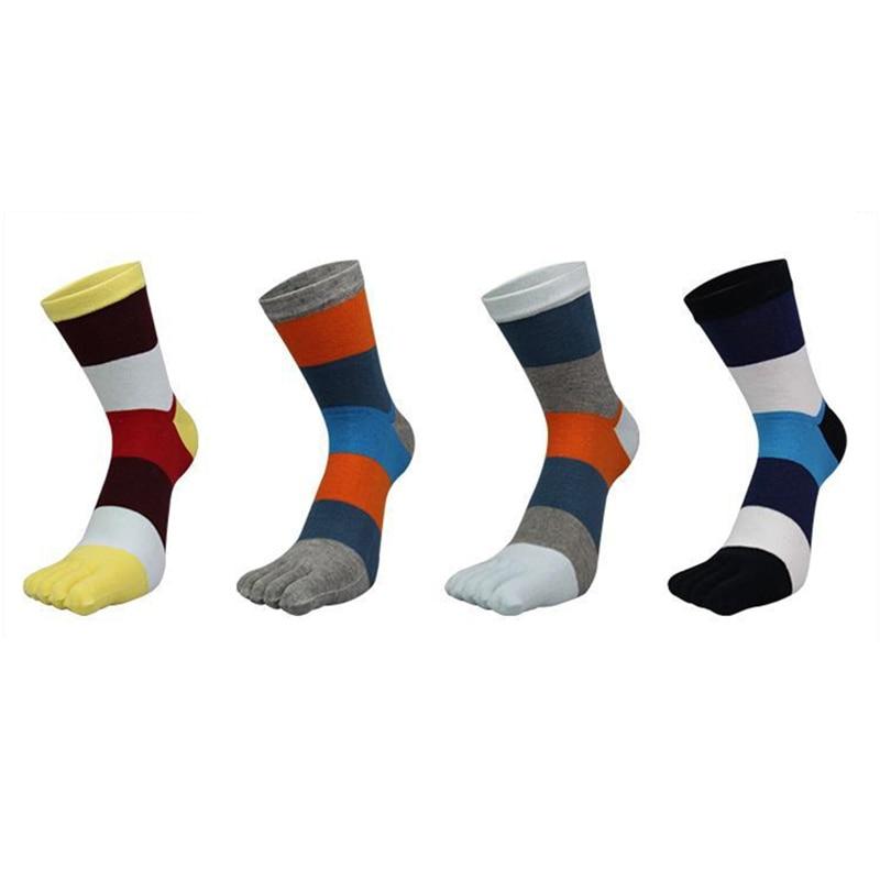 Enthusiastic Newest Soft Comfortable Cotton Toe Socks Men 4 Pairs Coloured Deodorization Five Finger Socks High Quality Long Sock Street Wear Underwear & Sleepwears