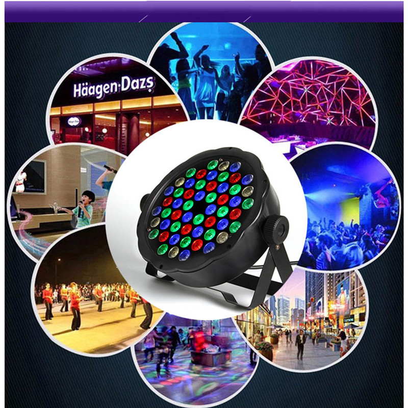 цены 1PC 90-120W Disco Light Stage 54 LED RGB LED Flat Par RGB Color Mixing DJ Wash Light Stage Uplighting KTV Disco