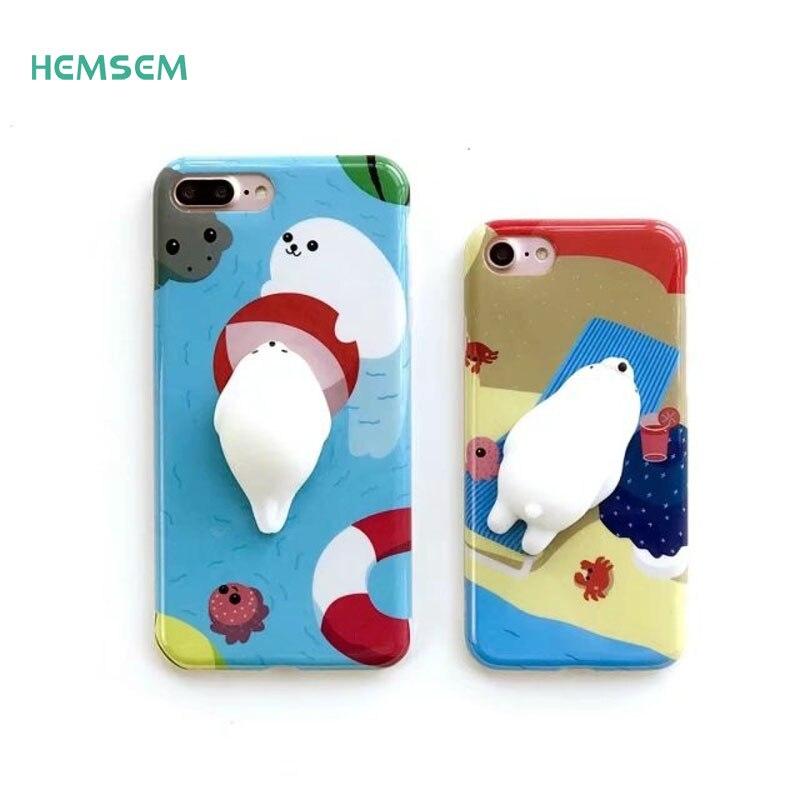 6 Plus Squishy DIY Phone Case 3D