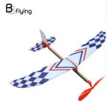 Маленький Thunderbird Резиновая лента силовой самолет планер р/у модель ручной работы DIY детские развивающие игрушки студенческий научный подарок