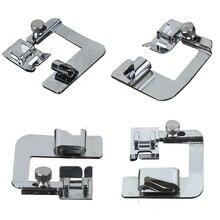1 pieza dobladillo laminado máquina de coser pie 6/9/16/22mm prensado pie para coser costura Overlock accesorios de la máquina de coser 4 tamaños