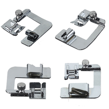 1pc Rolled Hem Sewing Machine Foot 6/9/16/22mm Crimping Presser for Seam Overlock Accessories 4 Size