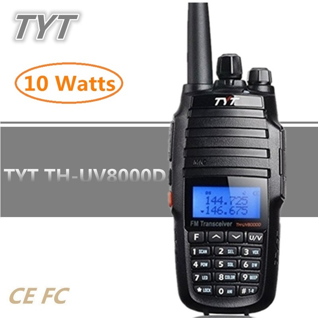 TYT TH-UV8000D 10W 3600mAh UHF VHF Dual Band Handheld Radio Transceiver Walkie Talkie 10KM With Cross-band Repeater Function