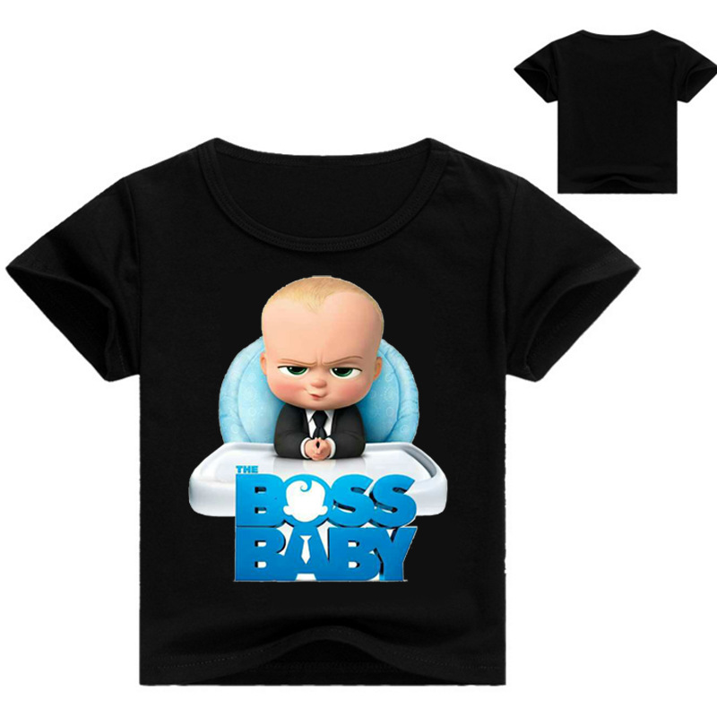 Bobo boys tops 2018 kid t shirts The Boss Baby T Shirts for boys Kids T-shirts Short Sleeve Boy Summer Clothes boys tops color block panel short sleeve novelty t shirts