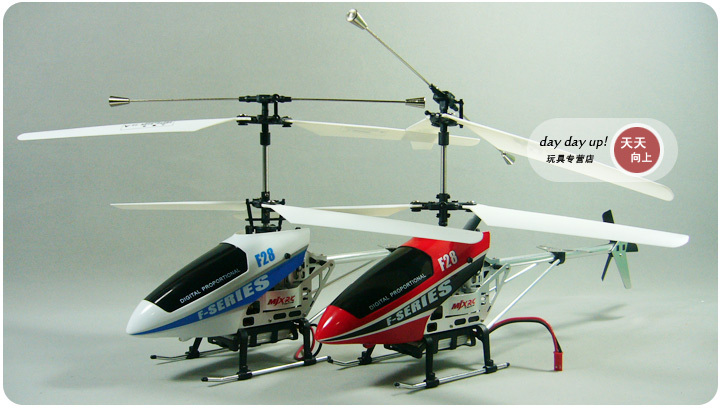 (Clearance Sale: FREE SHIPPING)- MJX F28 Shuttle LCD PRO 4Ch Metal mini indoor helicopter GYRO RTF W/spare parts P1