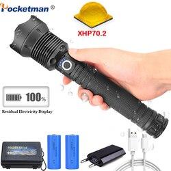 50000 lumen Lampada xhp70.2 più potente torcia elettrica usb Zoom ha condotto la torcia xhp70 xhp50 18650 o 26650 batteria Best di Campeggio, outdoor