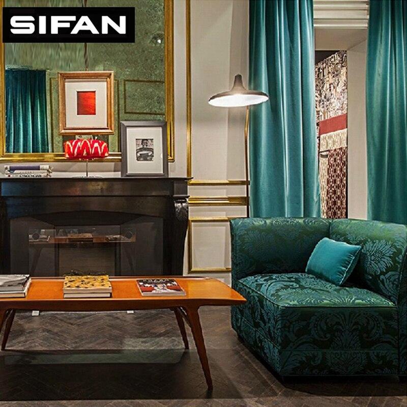 € 16.57 5% de réduction|Haute qualité étincelle rideaux de velours italien  pour salon rideaux modernes pour la chambre rideaux pour enfants sur ...