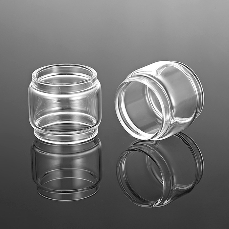 2pcs /lot ecig Replacement Bulb clear glass Tube For TFV mini v2 Free Max twister voopoo UFORCE T2 Falcon king cleito 120 pro
