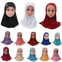 Детский мусульманский хиджаб для девочек исламский арабский
