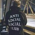 streetwear hip hop kanye black/white/pink hoodie fashion brand clothing skate sweat Assc anti social social club