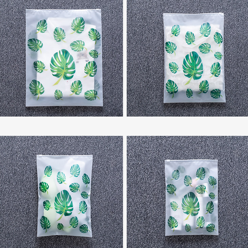Transparent Plant Cosmetic Bag Travel Makeup Case Women Zipper Make Up Organizer Storage Pouch Toiletry Wash Kit Beauty Bath Box
