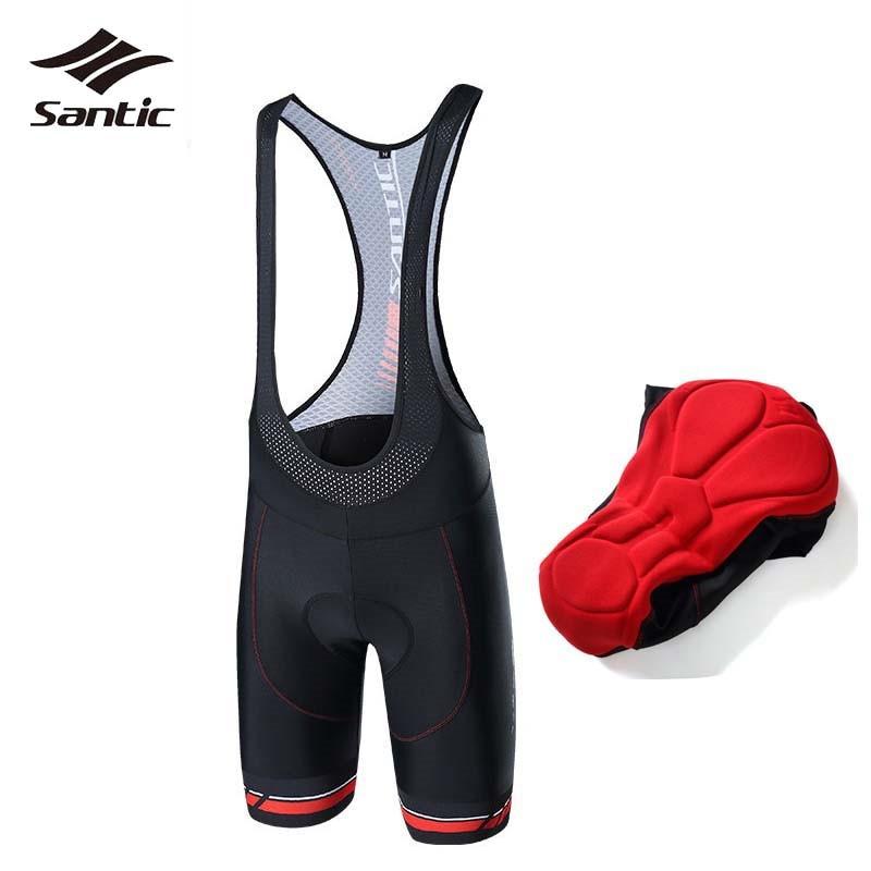 все цены на Santic MTB Shorts Road Mountain Downhill Bike Shorts Men Breathable 4D Padded Bicycle Cycling Shorts Culotte Ciclismo Hombre онлайн