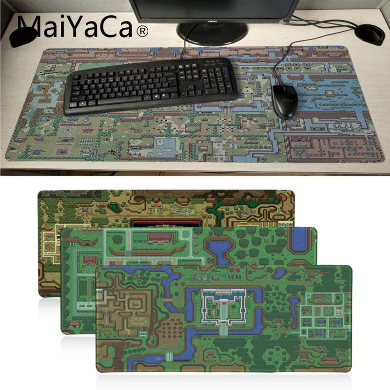 MaiYaCa The Legend of Zelda map High Speed New <font><b>Mousepad</b></font> <font><b>Large</b></font> Gaming Mouse Pad Anti-slip Perfect Locking PC Computer desk mat image