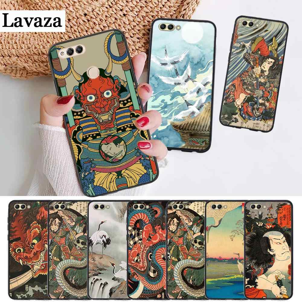 Japanese style Art Silicone Case for Huawei honor 6A 7A Pro 7X 8 Lite 8A 8X 8C 9 Note 10 View 20 20S 9X