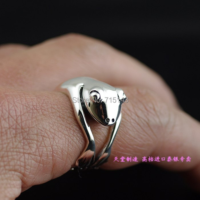 Imports of Thailand, 925 sterling silver lovely frog Thai silver ring gtm 24