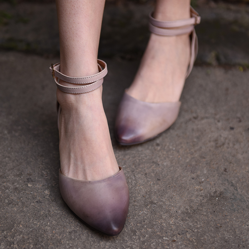 Careaymade-original spring new style European&American retro shoes,pure handmade shoes,with real leather Baotou women's shoes