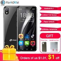 Mini Smartphone K TOUCH I9 Face Unlock GPS WIFI Android 8.1 Mini Screen 3GB 32GB 4G LTE Mobile phone