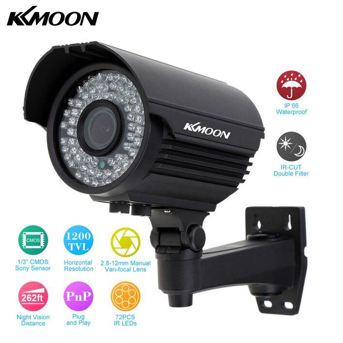 bilder für KKmoon Im Freien Wasserdichte 1200TVL HD Überwachungskamera 2,8 ~ 12mm Zoom Vario Cctv-kamera 72 IR LED IR-CUT Sicherheit kamera