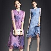 Free Shipping Fashion 2017 Spring Summer New Women Dress Sleeveless Pink Blue Color Slim