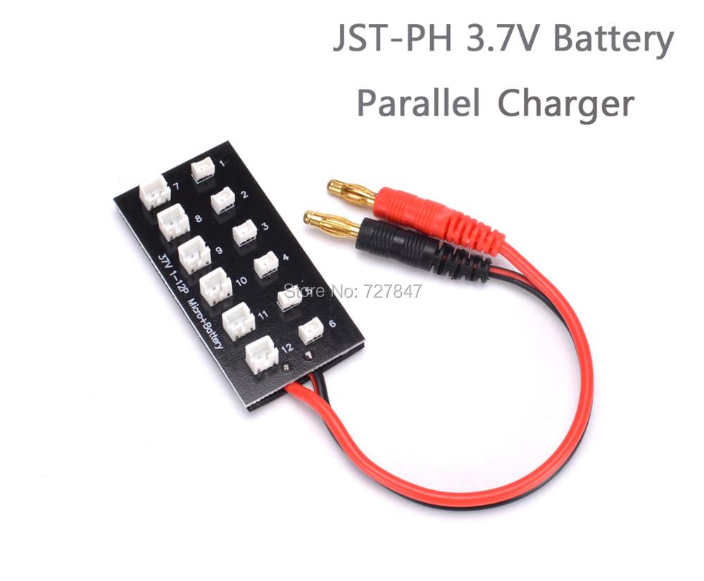 NEW Mini RC 1S JST-PH 3.7V Battery Parallel Charging Charger Board 4mm Banana Plug for Quadcopter