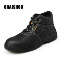 CS135 Men Steel Toe Safety Shoes Footwear Rubber Ankle Boots for Men Fashion Hiking Boots Construction Work Shoes Men Size 37 46