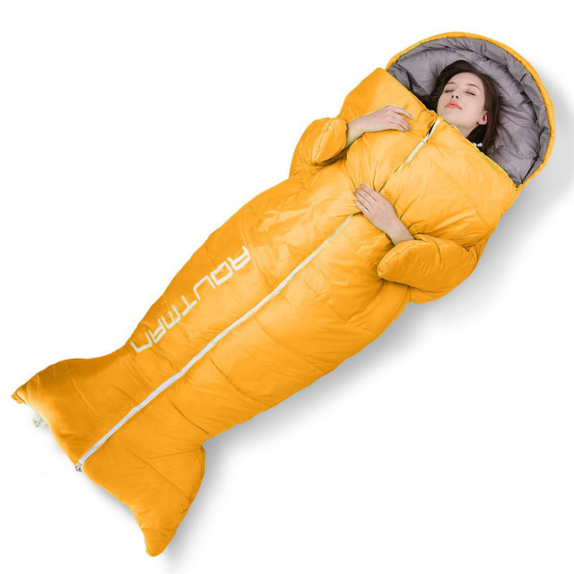 the latest 68dd6 5d46b US $79.99 |GYKZ Penguin Shape Adult Warm Sleeping Bags Suitable For 0~10  Degree New Lazy Bag Soft Cotton Mummy sac de couchage HY240-in Sleeping  Bags ...