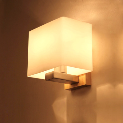 American Style Wall Light Bedroom Lamp Bedside Lamps Corridor Lights Solid Wood Home Decoration