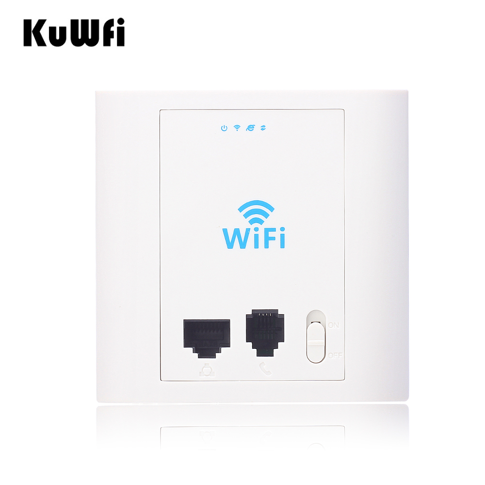 US Shipping 300Mbps In Wall Router Wifi Access Point 2.4G Wireless AP Router&Wireless Repeater With RJ45&RJ11 Support POE