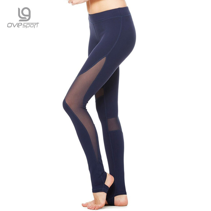 New Fitness Leggings for Women Solid Leggings Mesh Splicing Skinny Pants High Elastic Workout Fashion Pants Trousers Women CK01