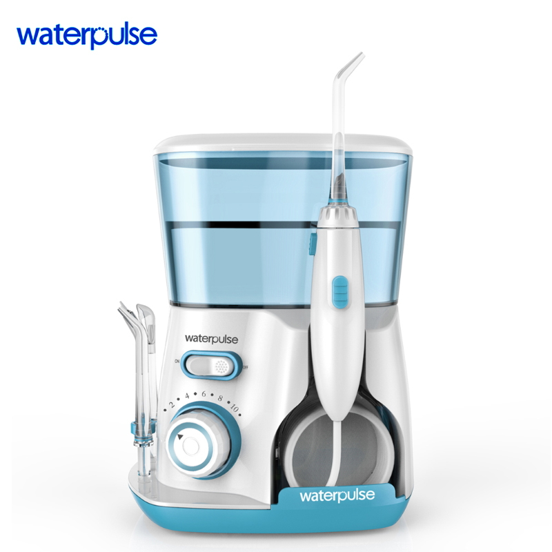 WaterPulse V300 Irrigator Oral Dental Electric Power Floss Dental Water Jet Cleaning Teeth Water Flosser With 5 Jet Tips Spa dental water jet tip power floss dental water jet nozzle for dental irrigator water flosser suit for waterpik waterpulse